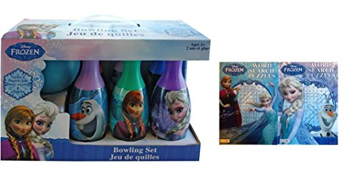 Disney Frozen Bowling Set and Word Search Puzzle