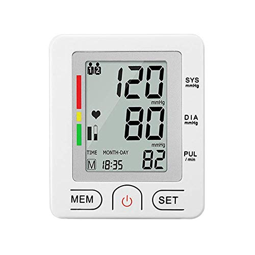 Electric Wrist Watch Blood Pressure Monitor Digital Full Automatic Blood Pressure Machine Meter with Cuff Portable Meter Easy and Accurate Readings White for Home Use