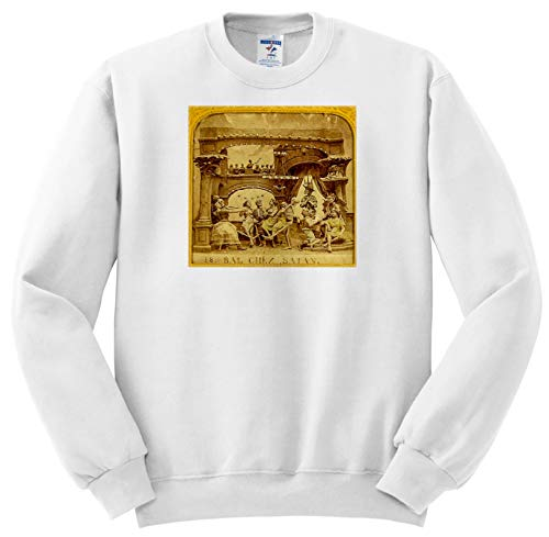 (Scenes from The Past - Stereoview - 1800s French Diabolerie Vintage Stereoview Satans Ball - Sweatshirts - Youth Sweatshirt Small(6-8))