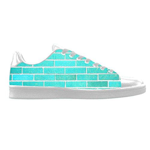 Custom gemauerte Wand Textur Mens Canvas shoes Schuhe Lace-up High-top Sneakers Segeltuchschuhe Leinwand-Schuh-Turnschuhe E