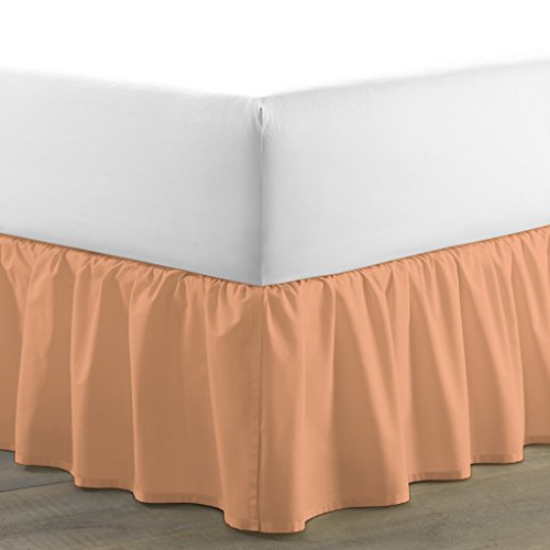 Luxurious Hotel Collection 600 Thread Count 100% Egyptian Cotton Dust Ruffle Bed Skirt 15 inch drop By BED ALTER Solid (Dust Ruffle Bed Skirt) (Knit Ruffle Pattern)