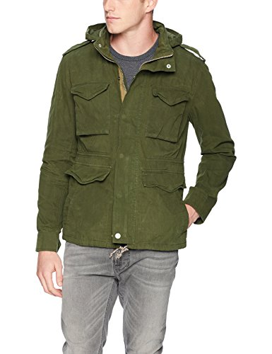 Lucky Brand Men's Waxed M-65 Field Jacket, Green, L