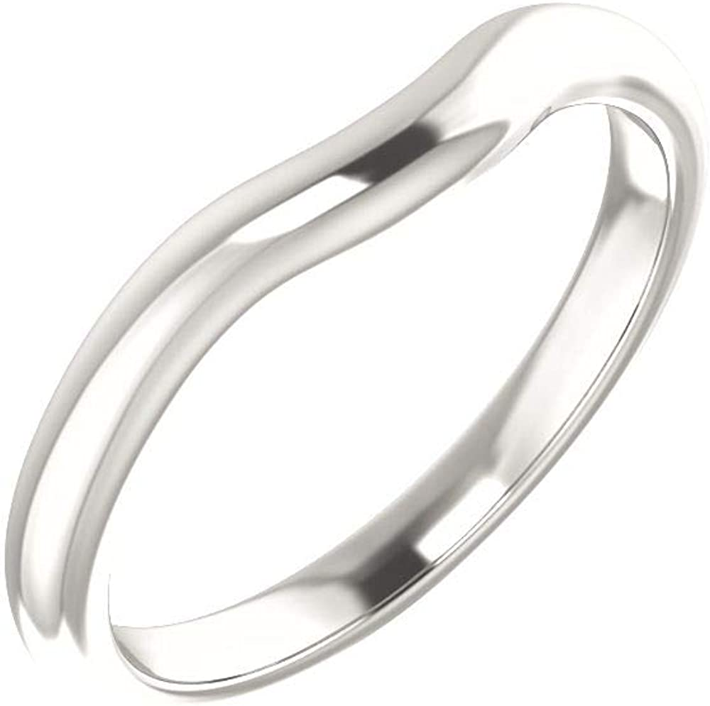 Bonyak Jewelry Sterling Silver Band for 6x6 mm Heart Ring Size 7