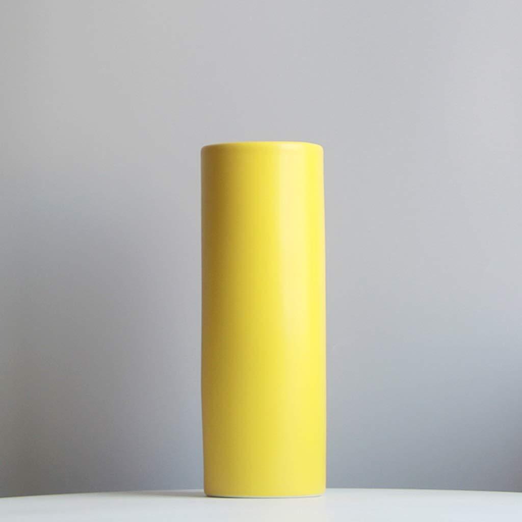 セラミック花瓶、黄色フラワーアレンジメント装飾ドライフラワー花瓶リビングルームの寝室多機能クリエイティブ花瓶用花 (サイズ さいず : 11*31CM) B07RQ5VGMQ  11*31CM