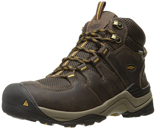 KEEN Men's Gypsum II Mid WP Shoe, Coffee Bean/Bronze Mist, 9.5 M US