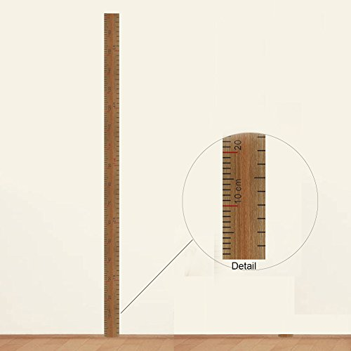 DIY Removable Growth Chart Height Measure Wall Sticker, Floor88 Height Ruler Wall Decoration Sticker Chirldren Height Measurement Decal for Baby Room Home - Chart Adhesive Height