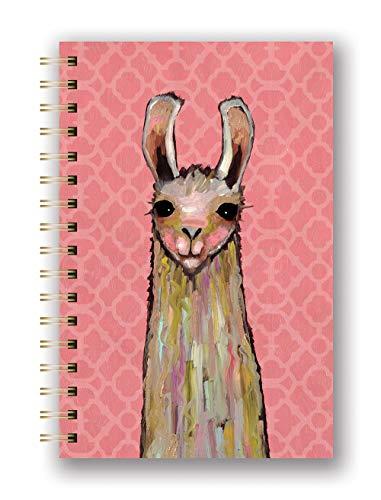 (Studio Oh! Hardcover Medium Spiral Notebook Available in 8 Designs, Eli Halpin La-La Llama)