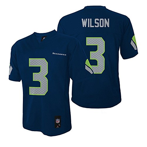 Russell Wilson Seattle Seahawks Navy NFL Toddler - Infants 2016-17 Season Mid-tier Jersey (Infants 18 Months)