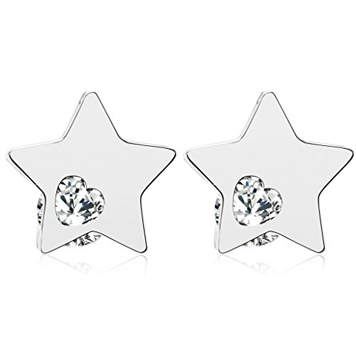 Stainless Steel 7mm Ear Piercing Earrings Studs (Emerald Green) - 8