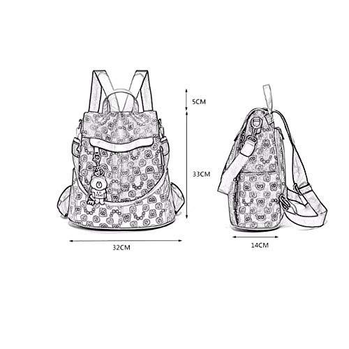 De Gaot Shoulder Impreso Gran Bag Women Bolsos c C Capacidad 's Mochila Antirrobo 06rU1w0