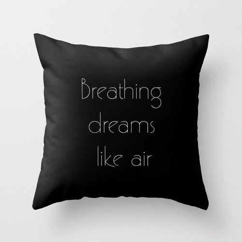 Breathing Dreams Like Air Pillowcase - Pillowcase Quote - Great Gatsby - Great Gatsby Pillow Cover - Art Deco - Art Deco Decor - Typography - 16x16 (Easy Halloween Crafts Third Grade)