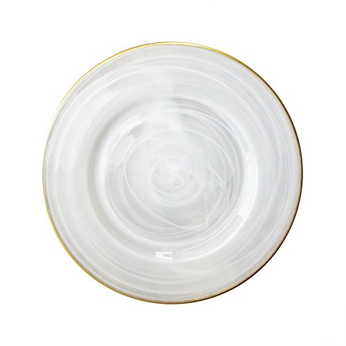ChargeIt by Jay Alabaster Rim Glass Charger Plate, Gold