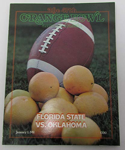 1981 Orange Bowl Florida State FSU vs Oklahoma OU Football Program 141855