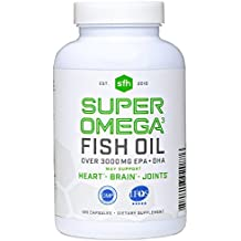 Super Omega 3 Fish Oil Capsules by SFH | Highly Concentrated 3320mg EPA & DHA | 120 Capsules