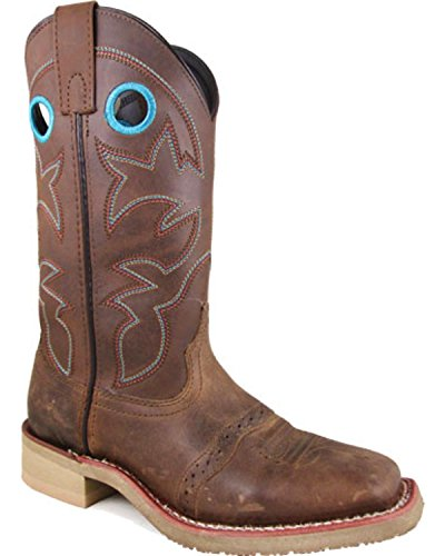 On Brown Distress Toe Holes Women's Mountain Hayden Pulll Square Boots Brown Smoky Oil wvqHI8x0