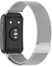 Magnetic Milanese Strap for Huawei Watch Fit - Siver