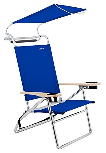 Deluxe 4 position Aluminum Canopy Chair