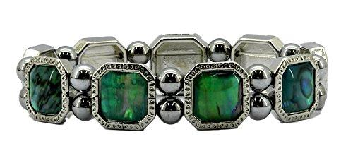 Relaxus Magnetic Jewelery. Magnetic Octagon Vert Bracelet. - Octagon Bangle