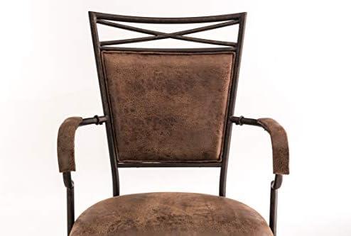 Hillsdale 5759830 Bridgetown Swivel Tilt Barstool Aged Bronze Finish
