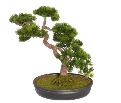 artificial bonsai tree 40cm high replica japanese pine bonsai in planter