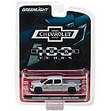 Greenlight 27940-F 2018 Chevrolet Silverado Redline Edition Silver 100th Anniversary of Chevy Trucks Anniversary Collection Series 6 1/64 Model Car