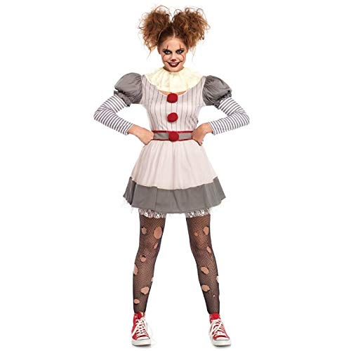 Leg Avenue Womens Scary Clown Costume, Multi Medium/Large ()