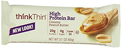thinkThin High Protein Bars, Creamy Peanut Butter, 2.1 Ounce (pack of 10) by thinkThin