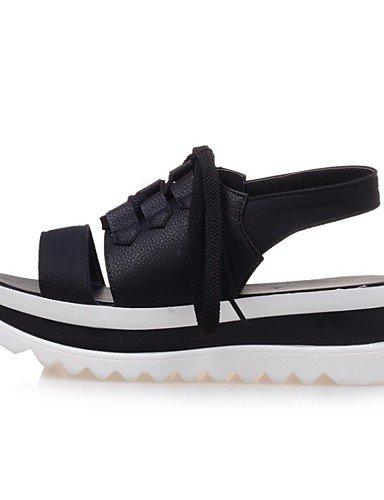LFNLYX Zapatos de mujer-Tacón Plano-Comfort / Innovador / Náuticos / Punta Redonda / Botas a la Moda / Zapatos y Bolsos a Juego-Sandalias / White