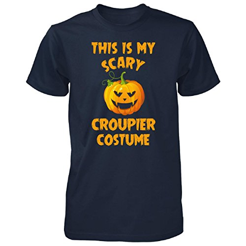 Costume De Croupier (This Is My Scary Croupier Costume Halloween Gift - Unisex Tshirt Navy XL)