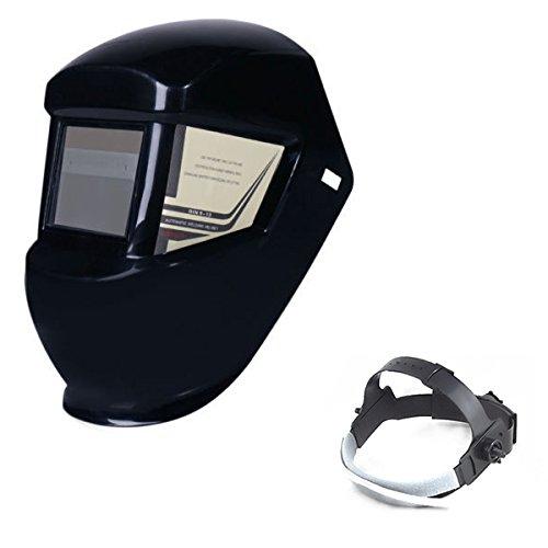 Funciona con energía solar Arc Mig de cristal líquido filtro careta de seguridad para moler/pulido soldador soldadura casco/máscara con libre sudor banda ...