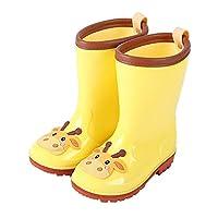 Jinzone Rain Boots for Kids Cartoon Rubber Shoes Yellow