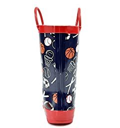 Arctiv8 HARLEY Kids Rubber Outdoor Waterproof Pull On Rain Boots New Baseball Size 13