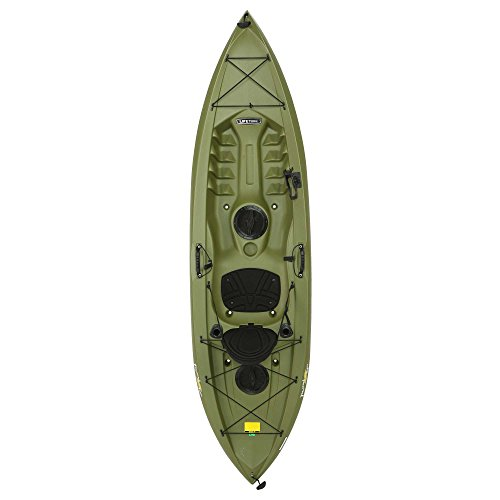 Lifetime Tamarack Angler Sit-On-Top Kayak, Olive, 120'' by Lifetime