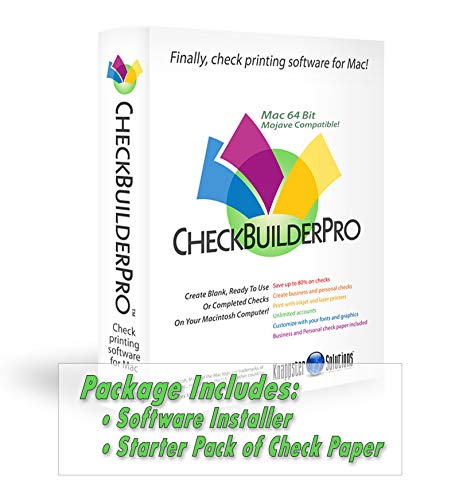 CheckBuilderPro3 - Check Printing Software for Macintosh