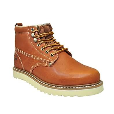 Golden Fox Oil Full Grain Leather Plain Toe with Lightweight Work Boot (7 D(M) US, Brun)