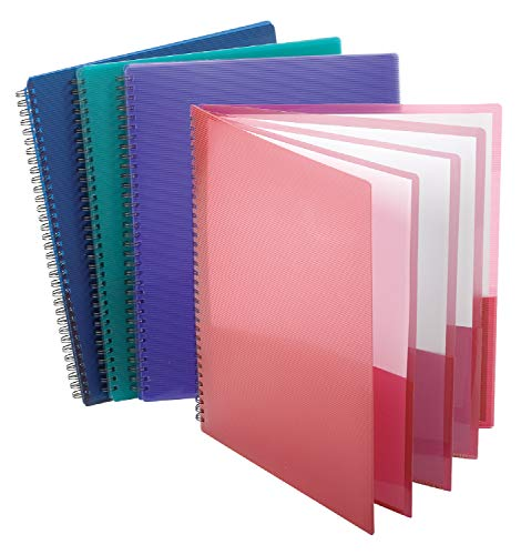 Esselte Oxford Poly 8-Pocket Folder - Letter Size - 9.1 x 10.6 x 0.4 (Colors may Vary) (8 Pocket Organization Folders)
