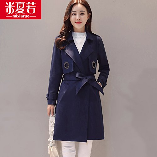Mayihang en el pelaje largo abrigo Chaqueta All-Match femenino Marina