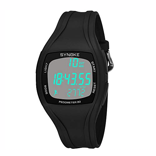 YEZIJIN Sports Watch Synoke Calorie Pedometer Chronograph Outdoor Watches 50m Waterproof Under 10