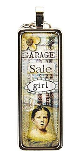 Santa Barbara Design Studio Stix Rectangular Jewelry Charm by Artist Sally Jean, Garage Sale (Rectangular Spacer Beads)