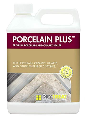 Porcelain PlusTM - Premium Porcelain Floor Cleaner and Quartz Sealer - 1 Quart - Impregnating Sealer - by Dry-Treat (Patio Sealing Paver)