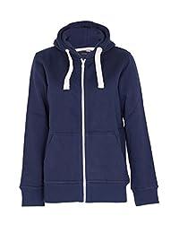 Noroze Womens Plain Hoodie Ladies Hooded Zip Zipper Top Sweatshirt Pullover