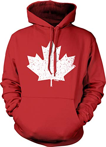 Canadian Maple Leaf - Canada Pride Unisex Hoodie Sweatshirt (Red, Large)]()