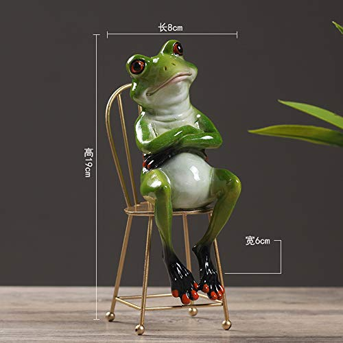 ZBBSHOP Pastoral Personality Frog Decoration Creative Gentleman Frog Home Living Room bar Counter Decoration Decoration Crafts