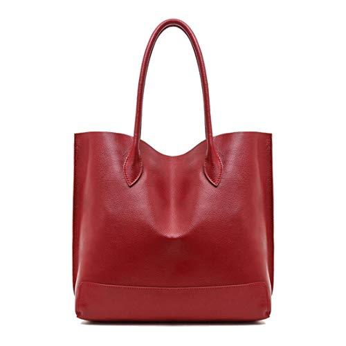 En Bandoulière Femme Red Cuir Wine Sac Pour Dames Houyazhan Main Grand À Brown color qOxtS6zI