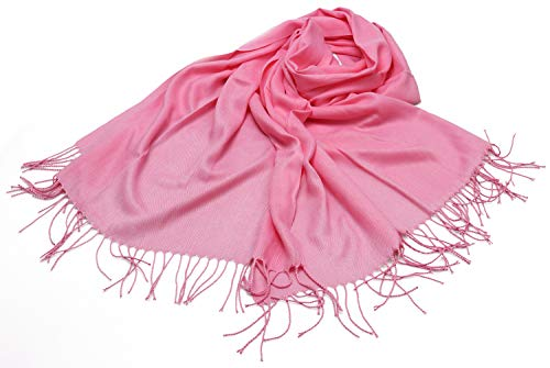 Winter Tassel Scarf Cashmere Feel Shawl Wrap Knit Scarf Solid Color S1