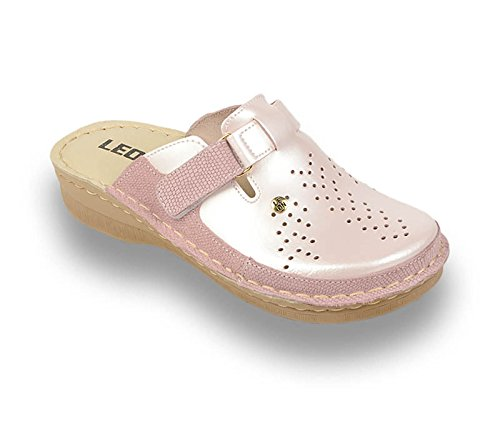 Sabots Cuir Chaussures Perle en Femme V261 Dames Mules LEON Chaussons 5CwYRqnx