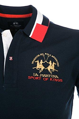 Pour London HommeVêtements La Martina Bleu Polo Marine CxordBe