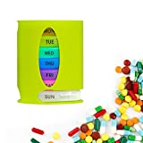 Pill Case Weekly Organizer Container Box with 7 Days Portable Supplements Compartments for Pills,Vitamins,Travel, Medication Daily Reminder
