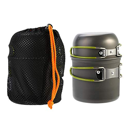 Compact Aluminium Alloy Pot,Outdoor Backpacking Cookware Hiking Cooking Stove Picnic Bowl Pot Pan Set for Home/Camping/Backpacking/Hiking