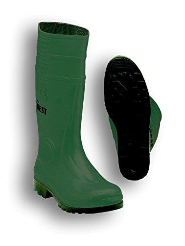 Seba 10CE V Stiefel, PVC, grün/schwarz S5, Größe 43